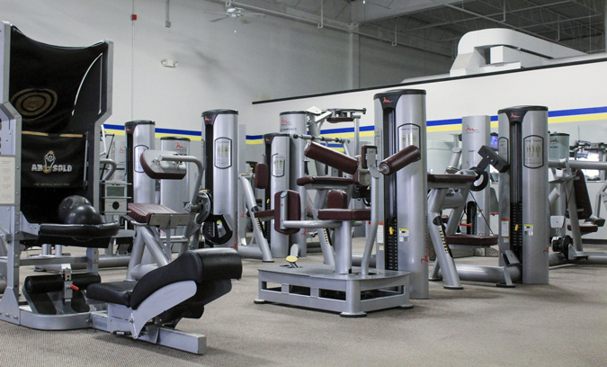 view of EFT's room of strength machines
